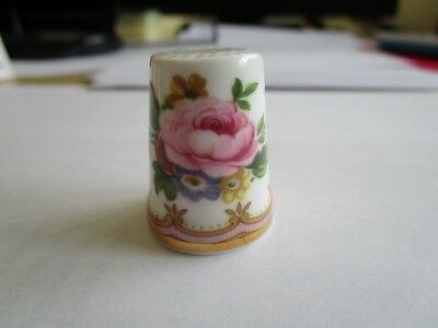 Royal Albert China Thimble - Lady Carlyle - From The Flower Collection