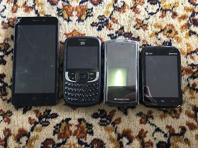 Assorted Lot Of Phones Flip Smart Slide ZTE Pantech Sanyo