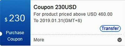$230 USD Bitmain Coupon for Purchasing Antminer Exp Jan End