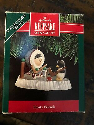 Hallmark Ornament 1991 Frosty Friends. NIB!