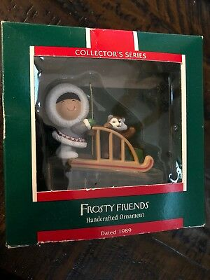 Hallmark Ornament 1989 Frosty Friends