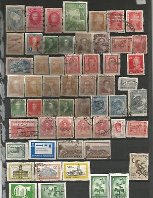OLD ARGENTINA  STAMPS  MINT  AND  USED some duplicates