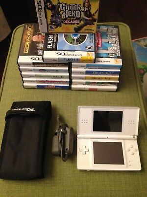 Nintendo DS Lite Bundle Carrying Case/Charger/Games