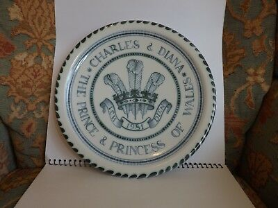Rye Pottery,The Prince & Princess of Wales Charles and Diana,1981,Royal,Plate.