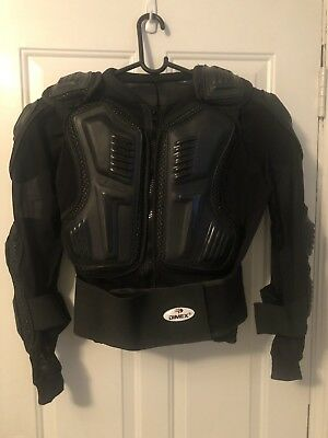 Motorcycle Full Body Armor Jacket Motocross Racing Spine Chest Protecto Gear US