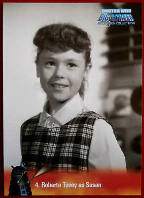 DR WHO - Big Screen Additions - Card #04 - ROBERTA TOVEY AS SUSAN - Inkworks