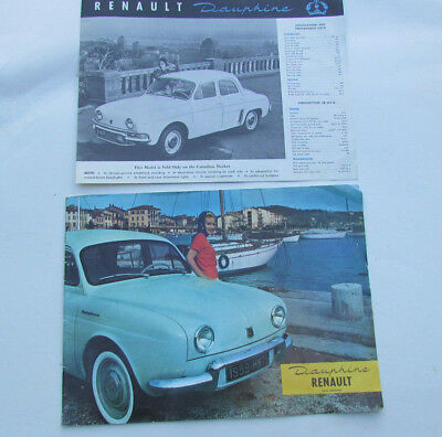 1959 RENAULT DAUPHINE GORDINI large Sale Brochure catalog booklet Full Color