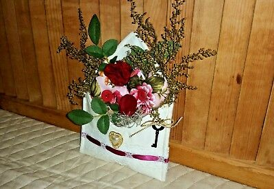 Shabby Chic Floral Hearts Valentine Envelope Hand Made Decoration