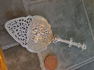 vintage? silver cake? server? marked with a lion