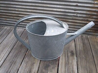 Vintage Large Galvanized Watering Can Garden planter farmhouse decor long spout