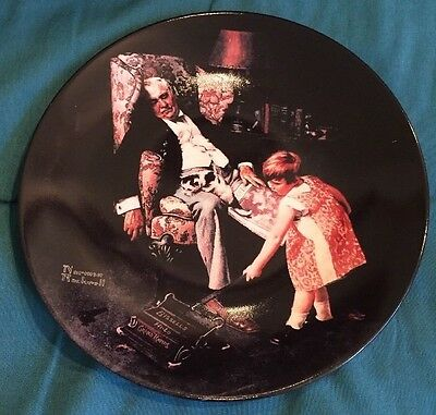 Norman Rockwell- The Dreamer Collector's Plate
