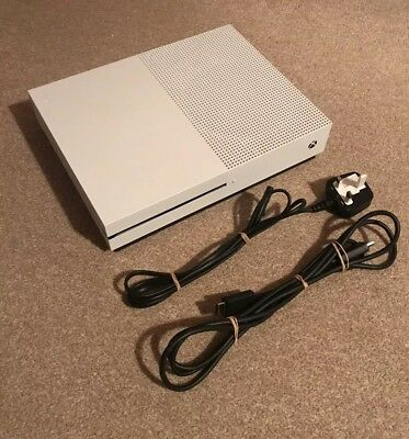 Microsoft Xbox One S Console 500GB White + All Leads - Excellent Condition