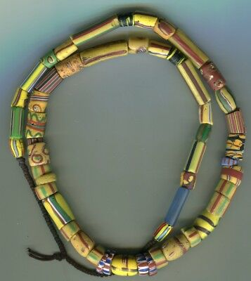 African Trade beads Vintage Venetian glass beads nice mixed old fancy strand