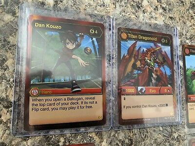Bakugan Battle Planet Near Complete Pyrus Set!! 2x BE, 3x AR, 7x SR!! 115 Cards!