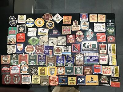 Large Collection Vintage Retro Beer Mats Drinks Coasters-Job Lot (#2 of 5 lots)