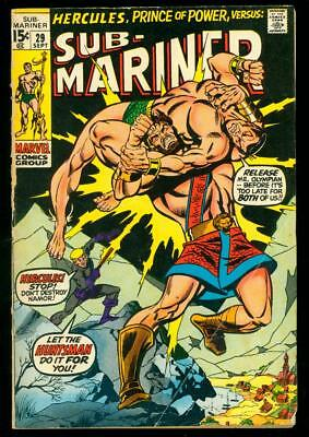 Sub-Mariner #29  Good  (Bug Chew, Cover Detached)