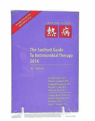 NEW Sanford Guide to Antimicrobial Therapy 46th Edition 2016 David Gilbert MD B2