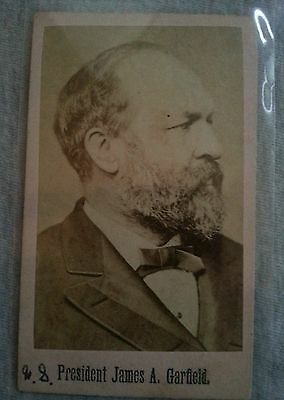 Cabinet Card J A Garfield Union General/President Antique Photo