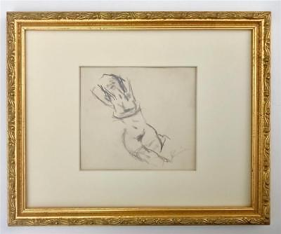 Original Drawing of a Reclining Nude Female by Jack Levine