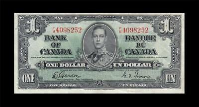 1937 BANK OF CANADA KGVI $1 **Gordon & Towers** (( EF ))
