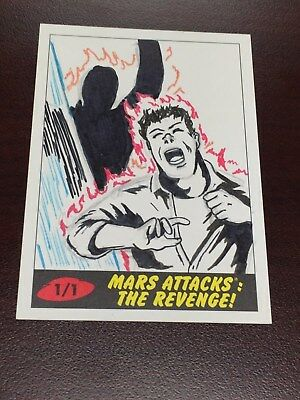 Mars Attacks The Revenge Kelly Greider Sketch Card