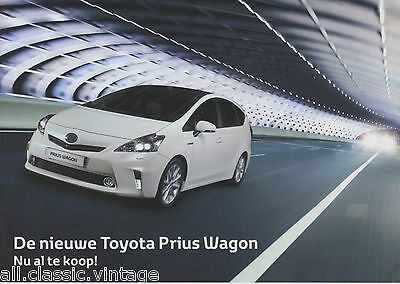 TOYOTA - Prius Wagon prospekt/brochure/folder Dutch 2011