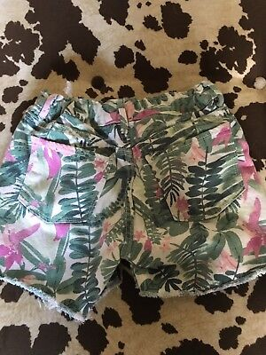 Girls Old Navy Flower Print Shorts Size 12