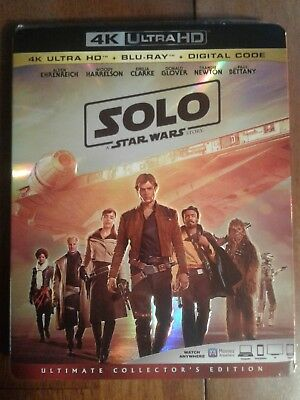 Solo - A Star Wars Story (4K UHD + Blu Ray + Digital) w/ SLIP COVER