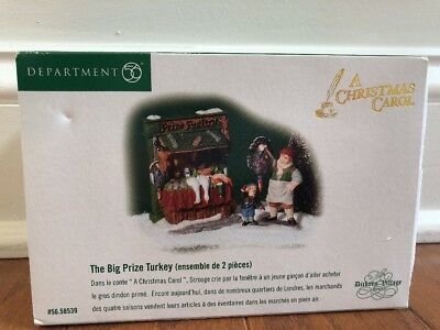 New Department 56 The Dickens Village Series The Big Prize Turkey Set Of 2 58539