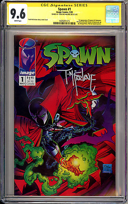 Spawn #1 CGC SS 9.6 Signed By Todd McFarlane (1st Print) Movie Coming Soon!!