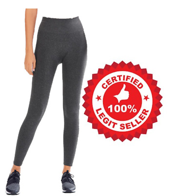 Fabletics Seamless High-Waisted Solid Legging Tall - XL/12-14 Charcoal Heather