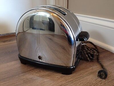 vintage ART DECO CHROME BAKELITE SUNBEAM TOASTER MODEL T-9