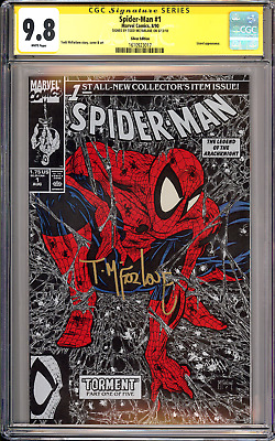 Spider-Man #1 CGC SS 9.8 (1990 Silver Cover) Signed McFarlane!! 1st Print