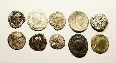 Scarce Lot Of 10 Imperial  Roman Silver Coins - Mixed Quality