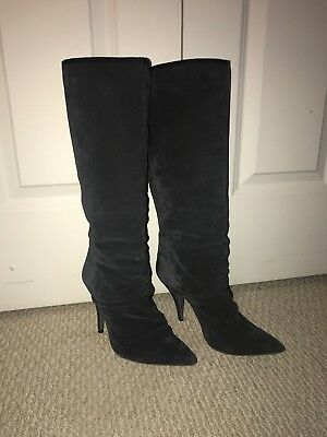 7573bfbb2631 PEDRO GARCIA TALL Suede Wedge Boot -  40.00