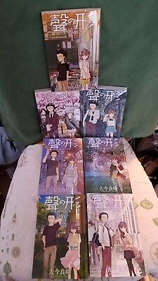 A SILENT VOICE Manga complete lot full set Vol.1-7 Japanese Edition