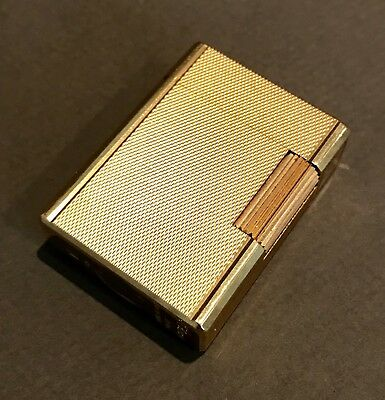St Dupont Gold Plated Lighter Mint Condition