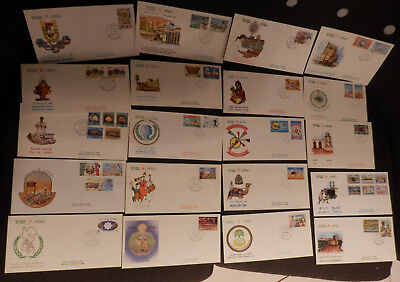 Oman selection of first day covers FDCs from 1985-1986 20 all different