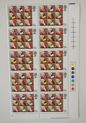 European Assembly Elections 1979 Traffic Light Corner Sheet Mint Stamps