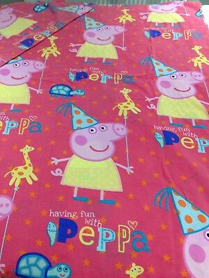 Disney pink toddler bed cot bed cute Peppa Pig design duvet cover and pillowcase