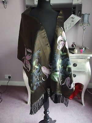 vintage shawl hand painted