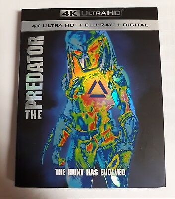 The Predator 4K Ultra HD + Blu-ray + Digital New Sealed + Slipcover ~ Ships Free