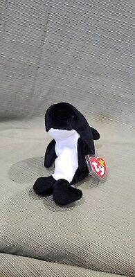 Ty Beanie Baby Waves the Killer Whale  1996 *Retired & New