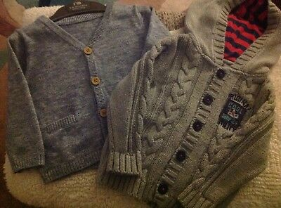 2  Baby Boy Cardigan 3-6 Months 1 new Mothercare 1 used Next