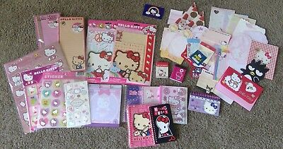 Huge Sanrio Hello Kitty Stationary Lot - Letter Sets, Stickers, Mini Notebooks