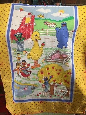 Sesame Street Baby Nursery Quilt Bright Colors Barn Farm Scene with Characters