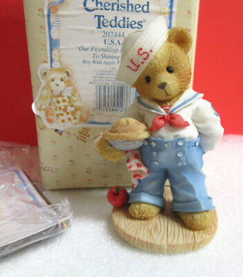 Cherished Teddies ~ OUR FRIENDSHIP IS FROM SEA TO... ~ Bob USA Figurine