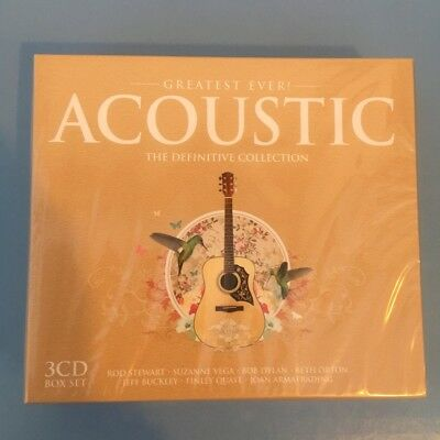 """Guitar Songs 3 CD Box Set """"Greatest Ever Acoustic The Definitive Collection"""" NEW"""