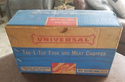 UNIVERSAL TAB-L-TOP FOOD And MEAT CHOPPER - DELUXE MODEL - with BOX