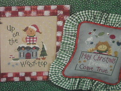 Lizzie Kate ~ Pets Do Christmas ~ Cross Stitch Pattern ~ NIP